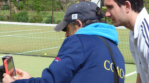 Video analysis at the London Tennis Clinic