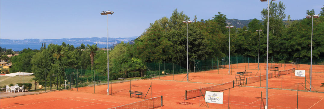 The tennis courts at Lake Garda