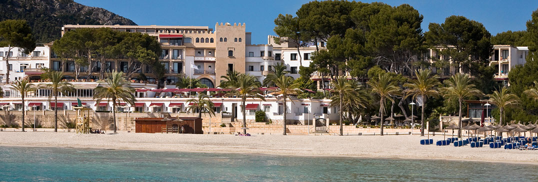 The beach-side Villamil Hotel, Mallorca