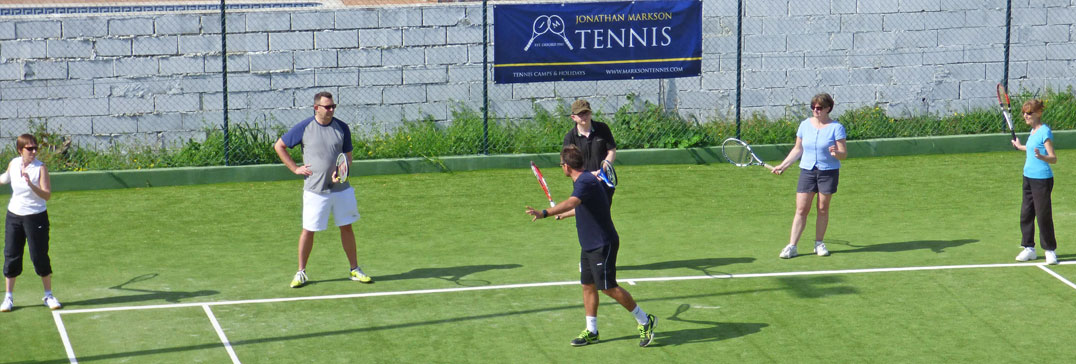 Forehand drills, tennis holiday in Algarve