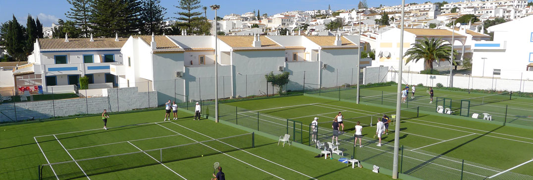 Tennis courts in the sunshine, Algarve