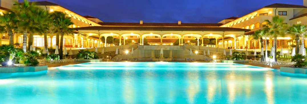 Swimming pool at night, Andalucia