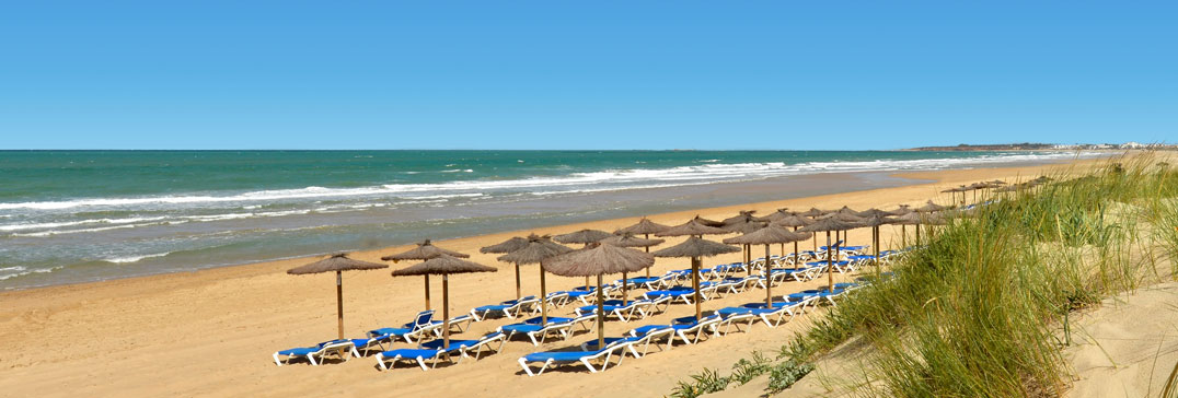 Sandy beach in Andalucia