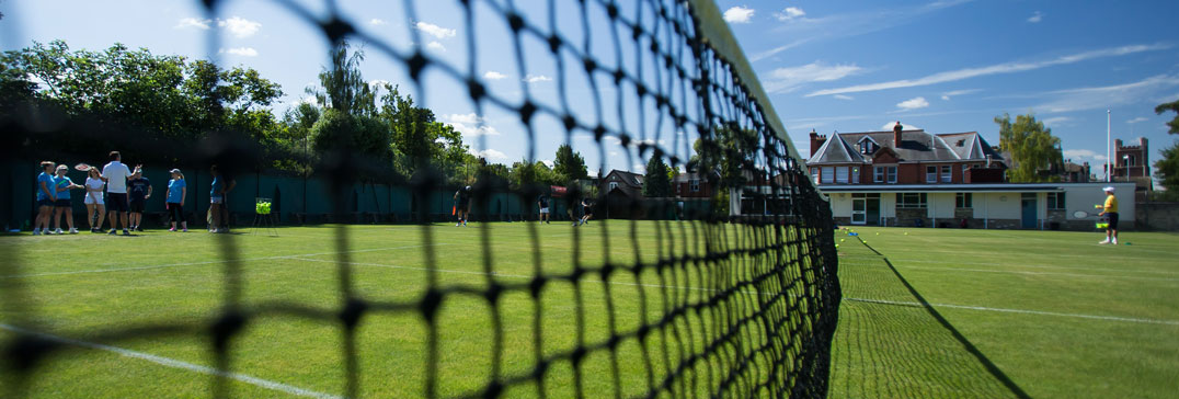 Grass court in Cambridge Tennis Camp