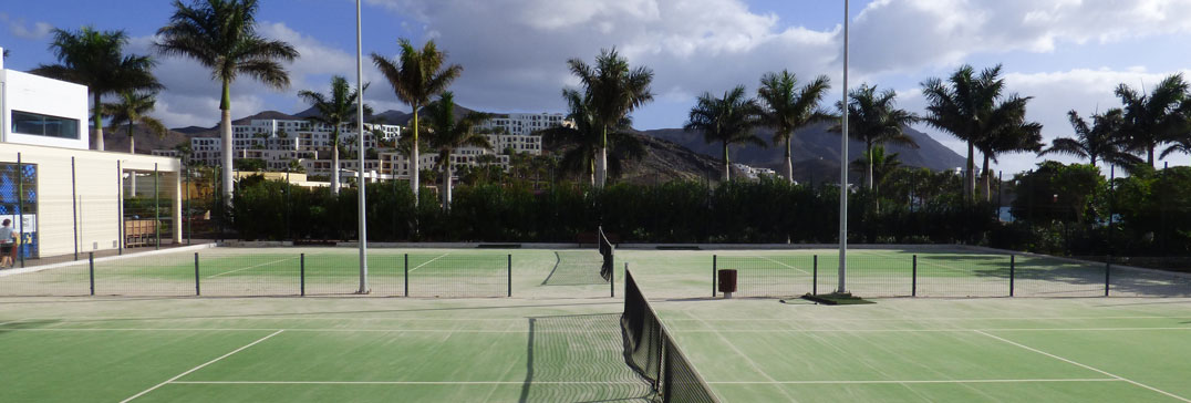 The tennis courts at Playitas Resort