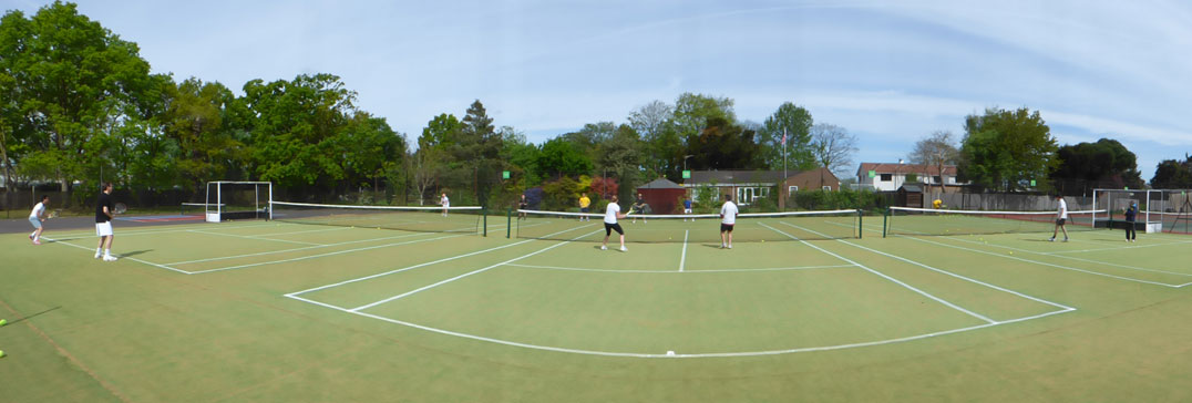 Tennis courts at the London Technical Clinic