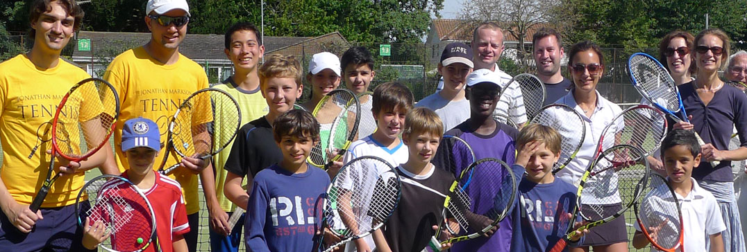 Summer tennis camp players, London
