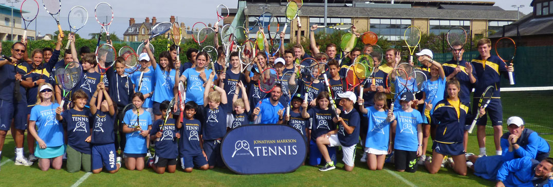 Oxford Tennis Camp players and coaches