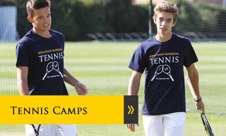 Tennis Camps for teenagers in England, UK