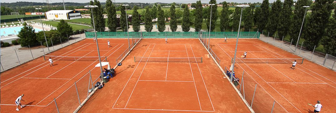 Tennis courts in Lake Garda, Italy