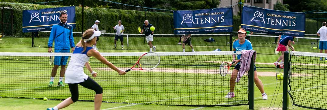 Adult players on grass courts of Oxford