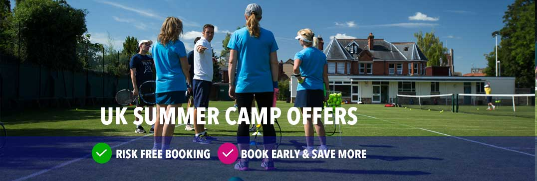 UK Summer Tennis Courses for kids and adults