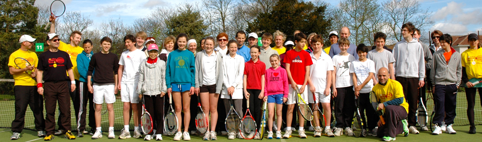 Group picture at London Tennis