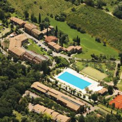 Aerial view of Lake Garda Hotel and Tennis Courts
