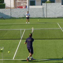 Basic drill on the Improver tennis holiday, Algarve