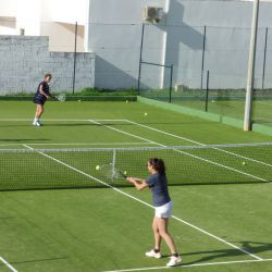 Improver tennis group drill, Algarve