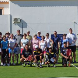 Tennis group in the sun, Algarve