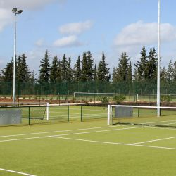 Astro turf tennis courts, Amendoeira, Algarve