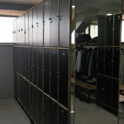 Changing rooms for tennis players