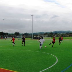 Football on the astro turf pitch
