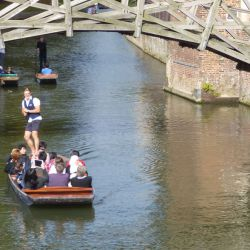 Punting on the River Cam, Cambridge Tennis Camp