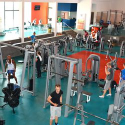 Large gym for tennis fitness lovers