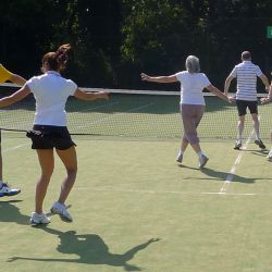 Warm up at the Barnes Tennis Clinic