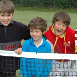 Young tennis players at the London Camp