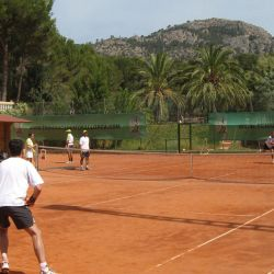 Fantastic clay tennis courts in Mallorca