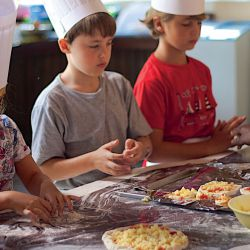 Children activity, cooking