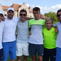 Great friends at the tennis camp