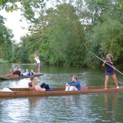 Punting in Oxford at the Residential Tennis Camp