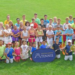 Players and Coaches at the Oxford Tennis Camp