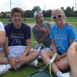 Friends at the tennis camp