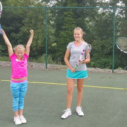 Fun tennis coaching at the camp