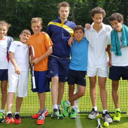 Tennis players at the Yorkshire Tennis Camp