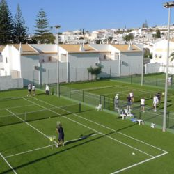 Luz Bay Hotel tennis courts, Algarve