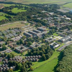 Birds eye view of University of Sussex