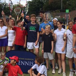 Tennis players at the London Tennis Clinic